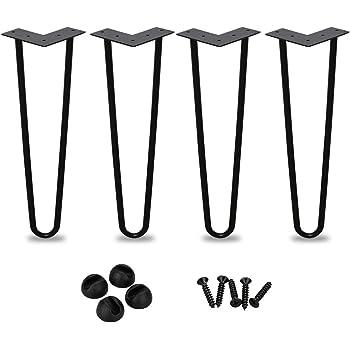 4 st/ück Haarnadelbeine M/öbelbein Haarnadel Tischfu/ß mit Doppelstab f/ür Esstisch Couchtisch Schreibtisch 8 Zoll 4 Gr/ö/ße optional EBTOOLS Tischbeine
