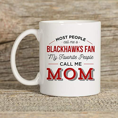 DKISEE Blackhawks Tasse, Tasse für Mutter, Chicago Tasse, Chicago Geschenk, Kaffeetasse, Kaffee-Geschenk, Teetasse, 325 ml