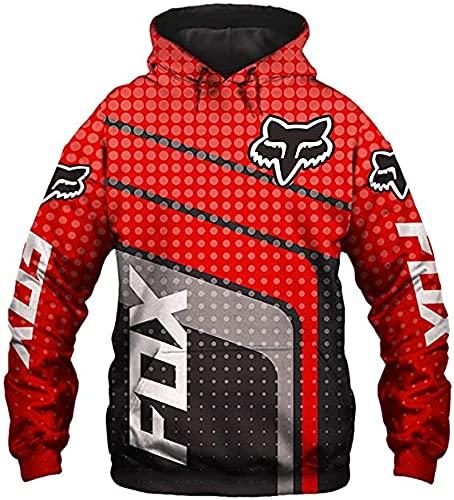 De gama alta personalizar F-O.X carreras 3D logo impresión digital suéter camisas moda deportes sudaderas otoño invierno manga larga sudadera con capucha para hombres mujeres S a 5XL ropa ropa