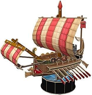 CubicFun 3D Roman Ship Puzzle Small Sailboat Model Building Kits Toys, Roman Warship, 85 Pieces