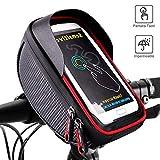 Vagalbox Bolsa impermeable para bicicleta con compartimiento para teléfono inteligente y accesorios Pantalla táctil con velcro para una fácil instalación Compatible con un teléfono inteligente de 6.0 pulgadas