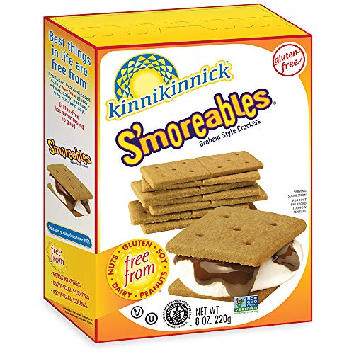 Kinnikinnick S'moreables Gluten Free Graham Style Crackers, 8oz/220g (Pack of 6)