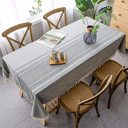 sans_marque Paño de mesa, cubierta de mantel, puede limpiar el borde de la decoración de la mesa, utilizado para la mesa de comedor de la cocina 90* 90cm