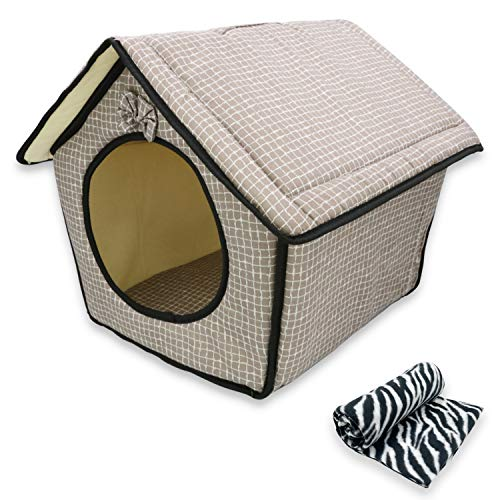 MERCURY TEXTIL – Caseta para Mascotas, Plegable, con Almohadilla Extraible, Suave y...