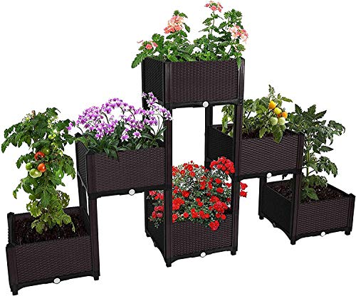 ABULU Elevated Raised Garden Bed Planter Box for Flowers Vegetables Fruits Herbs, Vegetables Plant Raised Bed Kits,Outdoor Indoor Planting Box Container for Garden Patio Balcony Restaurant.