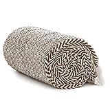 Americanflat Zaina Throw Blanket in Chocolate and White Herringbone - 100% Cotton with Fringe - 50' x 60'