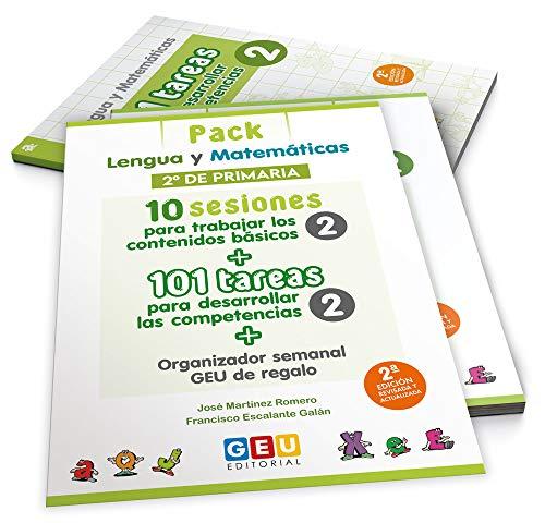 Pack Lengua y Mates / Editorial GEU / 2º Primaria / Recomendado como repaso y refuerzo / Actividades sencillas (Niños de 7 a 8 años)