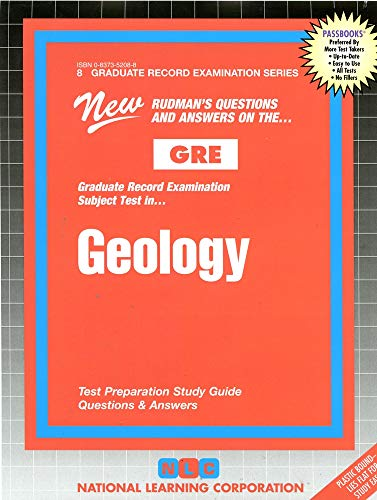 Geology Graduate Record Examination Series Passbooks Graduate Record Examination Series Gre