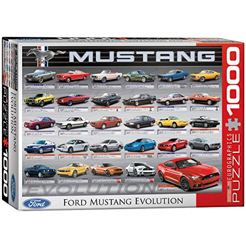 EuroGraphics Ford Mustang Evolution 1000pcs Puzzle - Rompecabezas (Puzzle Rompecabezas, Vehículos, Niños y Adultos, 1000 Pieza(s))