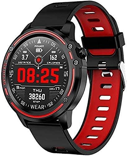 Reloj inteligente IP68 impermeable reloj inteligente multifuncional deportes hombres ver presión arterial y frecuencia cardíaca electrocardiograma PPG pulsera