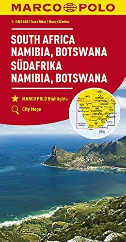 Marco Polo Zuid-Afrika, Namibië, Botswana: Wegenkaart 1:4 000 000