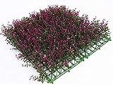 ANyun Las Plantas Artificiales 50x50cm Hoja de simulación de Pantalla Hedges Paneles de cribado Artificial expandible Hoja seto del jardín de privacidad for Vidrio fácil de Cortar e Instalar 12.4