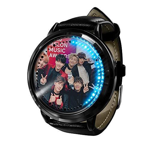 BTS Bulletproof Youth League Tendencia de Moda Reloj para Estudiantes niño niña Cuarzo Neutro LED Reloj Impermeable Pulsera de Regalo Pulsera BTS Fan para-A20