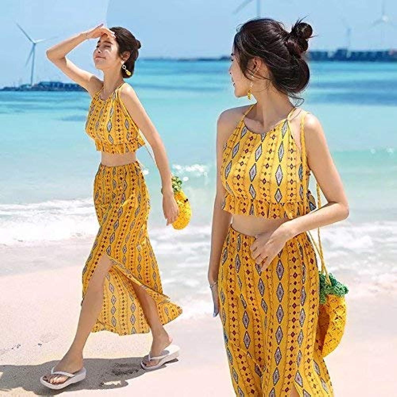 ZHRUI Dreiteiliger Badeanzug Hot Springs Konservativer Student Bikini Split Schwarz, Gelb Serie L (Farbe   Wie Gezeigt, Größe   Einheitsgröße) B07MFD4SMV  Hervorragende Funktion