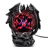 ANQIA Plasma Ball Lamp Touch Sensitive,Party Magical Electrostatic Red Color Crystal Ball for Christmas (Evil Dragon)
