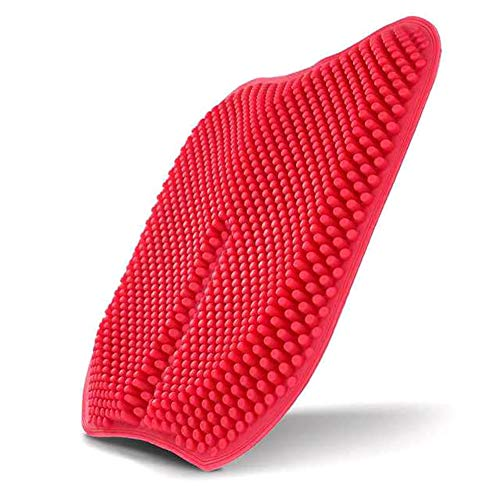 ZCPDP Gel De Huevo Anti-Decúbito Cojín Corrección Cola Vértebra Masaje 3D Ventilación Ventilación Asiento De Automóvil Respaldo Elástico Almohadillas De Hielo Almohadilla,Red,42x42x3cm ✅