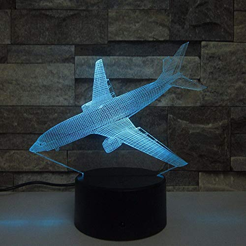 Jiushixw 3D acryl nachtlampje met afstandsbediening kleurverandering tafellamp kleine tafellamp shabby chic zilver bar creatieve Amerikaanse vlag patroon nachtlamp kleurrijke slaapkamer decoratie