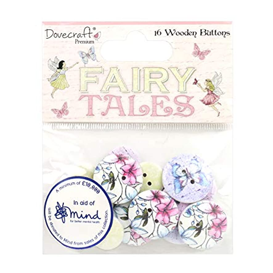 Dovecraft Premium Fairy Tales Wooden Buttons, Multicolour, 1