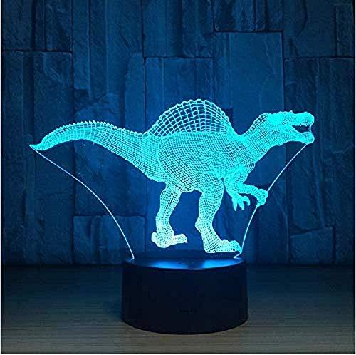 YOUPING Lámpara LED inteligente Bluetooth para mesita de noche 3D LED ilusión LampTyrannosaurus7 colores cambiantes sensor táctil lámpara de mesa de Navidad Acción de Gracias Halloween Regalos