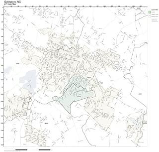 ZIP Code Wall Map of Goldsboro, NC ZIP Code Map Laminated