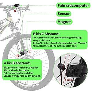 Dichlink Cuentakilómetros Bicicleta Inalámbrico,Ciclocomputador inalámbrico para bicicleta Impermeable,Velocímetro de Bicicleta Se Pueden Configurar 5 Idiomas, Con Retroiluminación de Pantalla LCD