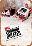 1968 Evinrude Skeeter Snowmobiles Vintage Look Metal Sign for Home Coffee Wall Decor 8x12 Inch