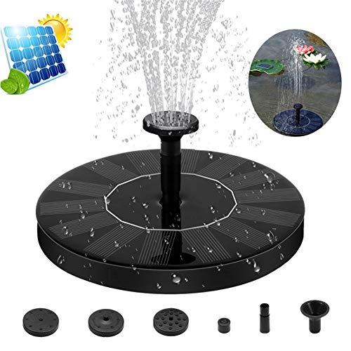 SO Fontein op zonne-energie, voor buiten, waterpomp, milieuvriendelijk voor tuinvijver, vogelbadje, visreservoir, vijverpomp op zonne-energie