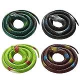 Bolonbi 4 Piezas Serpientes de Juguete, Serpiente Falsa de Serpiente...