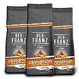 DER-FRANZ - Café aromatizado con canela natural, granos enteros, 500 g (paquete de 3)
