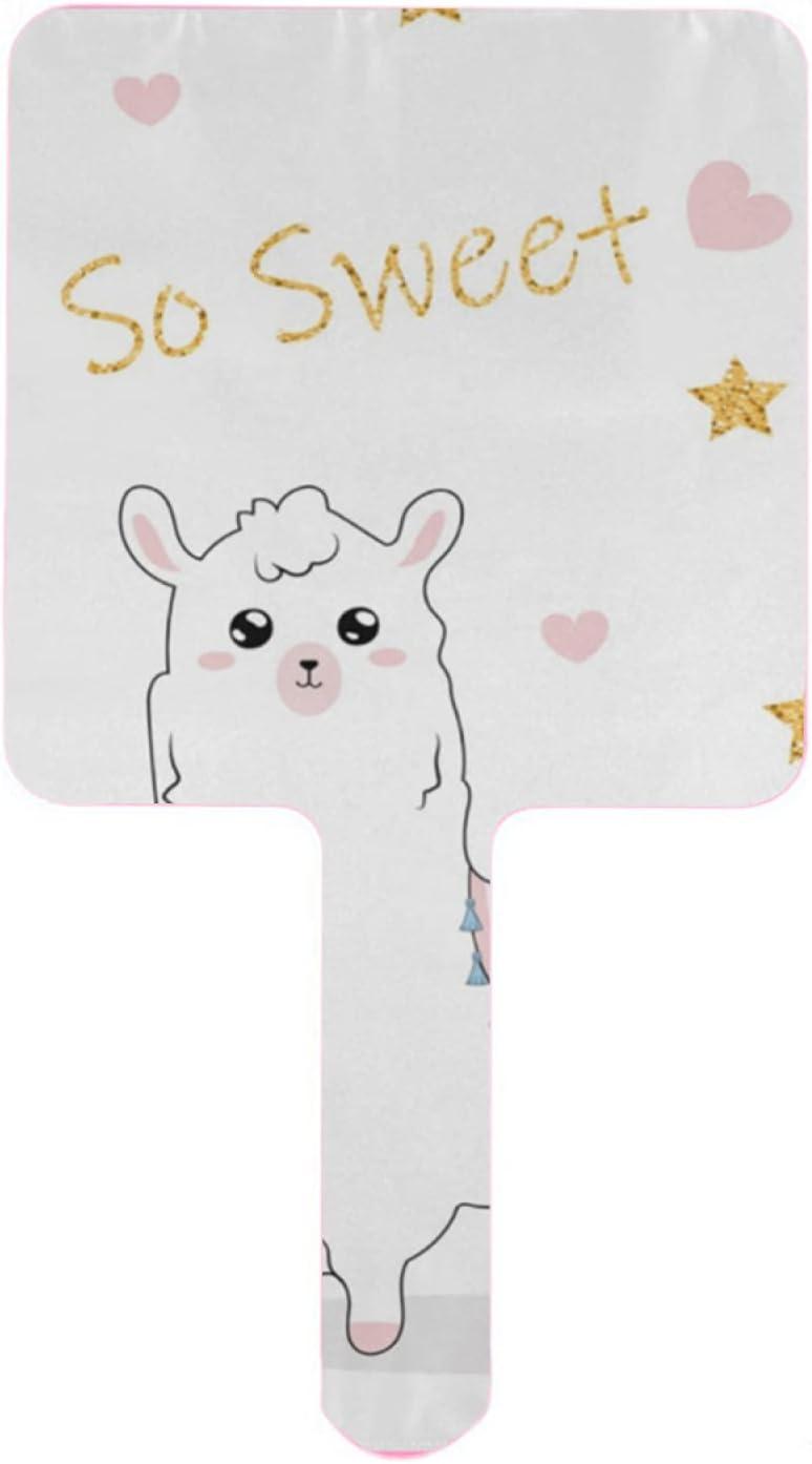 Hand Super Special SALE held Mirror So Sweet Branded goods Alpaca Cute w alpacos Mirrors Handheld Lama