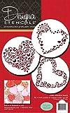 Designer Stencils C202Swirl San Valentín corazón Cookie Plantillas, Beige/Semi-Transparente