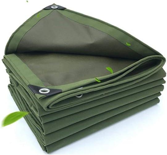 JINSH Tente extérieure bache Camion de Tissu de Tente de crème Solaire imperméable à l'eau versé Tissu Toile Anti-Corrosion Anti-Corrosion résistant à l'usure, Vert (Couleur   vert, Taille   3X3M)