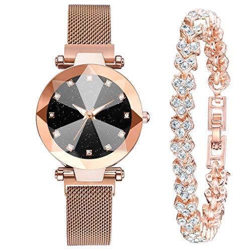 jieGorge Conjuntos de Relojes, Pulsera de Oro de Lujo a la Moda con Esfera...