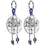 Metallo colorato smalto vetro turco occhio talismano portachiavi amuleto ciondolo fascino borsa portachiavi donna ragazze mano artigianale bagaglio Decor per borsa ornamento