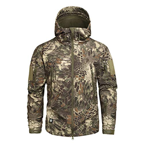 Shark Skin Softshell Military Tactical Jacket Herren wasserdichte Fleece Kleidung Camouflage Windbreaker MAD XL