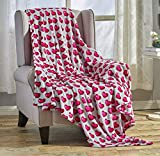 Décor&More Amor Eterno Be Mine Love Collection Valentine's Day Heart Ultra Plush Throw Blanket (50' x 60') - Red Hearts