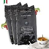 Café Italiano Bocca Della Verità - Café de Grano Tostado Natural HERMES Espresso Napoli - PACK 3 bolsas de 1 Kg
