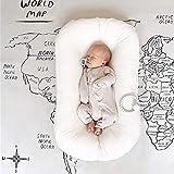 reducteur lit bebe,coussin bébé,Lit de nid portable pour bébé pour filles garçons lit de berceau en coton nouveau-né pépinière nacelle Bebe sommeil lit de berceau 72 * 42 cm