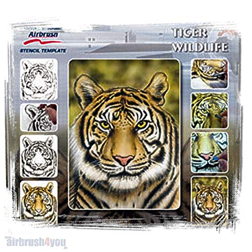 TIGRE Harder Airbrush sjabloon A4