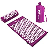 amzdeal Kit Tapis d'Acupression 68x42cm, Tapis de Massage en...