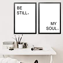 JRTF Be Still My Soul Pictures Home Art Print, Simple Word Quotes Canvas Wall Picture Print Poster for Home Wall Decor-40X60Cmx2 Pcs Frameless