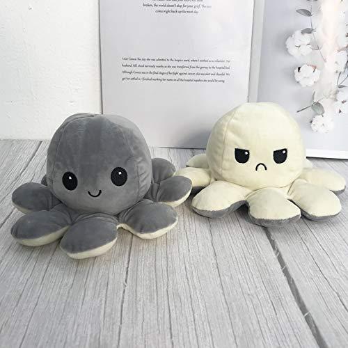 N / A Creativo Lindo Pulpo Reversible Juguetes de Peluche Animales Blandos muñeca de Peluche Colgante Familiar para bebés niños Regalo 10cm