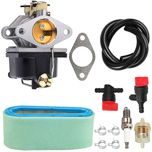Mannial 640065 640065A Carburetor for Tecumseh 640065A 640065 OHV125 OHV130 OVH135 OHV110 OHV115 OHV120 OV358EA Lawn Mower with 36356 Air Filter