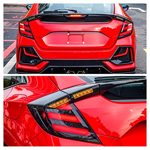 inginuity time LED Tail Lights For Honda Civic 10Th Gen 2016-2019 Type R Hatchback DRL Start Up Animation Rear Lamp Assembly (Type R Hatchback)