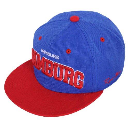 Raw Blue Cityline Hamburg Snapback Cap in Royal / Red