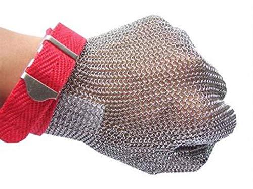 Ruvigrab 6513 Guante malla acero inoxidable carnicero certificado EN1082
