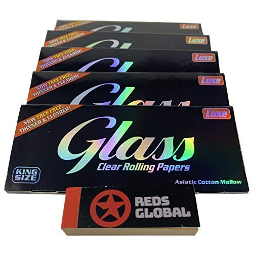 Reds Exclusivamente - Papel Transparente King Size Glass x 5