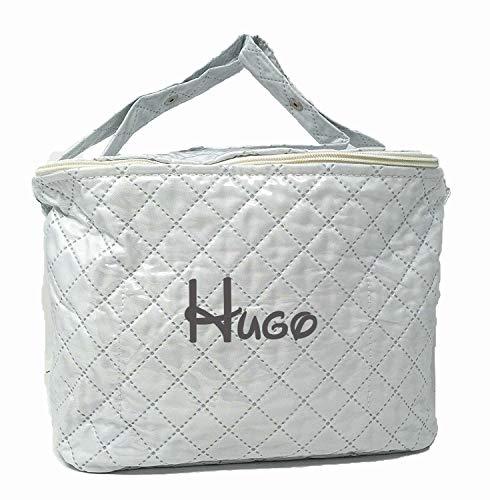 Danielstore - Bolso Neceser Personalizado con nombre bordado plastificado (Blanco)