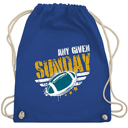 Shirtracer American Football - Any Given Sunday Football Jacksonville - Unisize - Royalblau - WM110 - Turnbeutel und Stoffbeutel aus Bio-Baumwolle