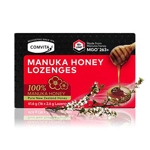 Comvita Manuka Honig Bonbons – 263+ MGO (UMF™ 10+) – 16 Manuka Bonbons - Aus 100% Manuka-Honig – Hergestellt in Neuseeland